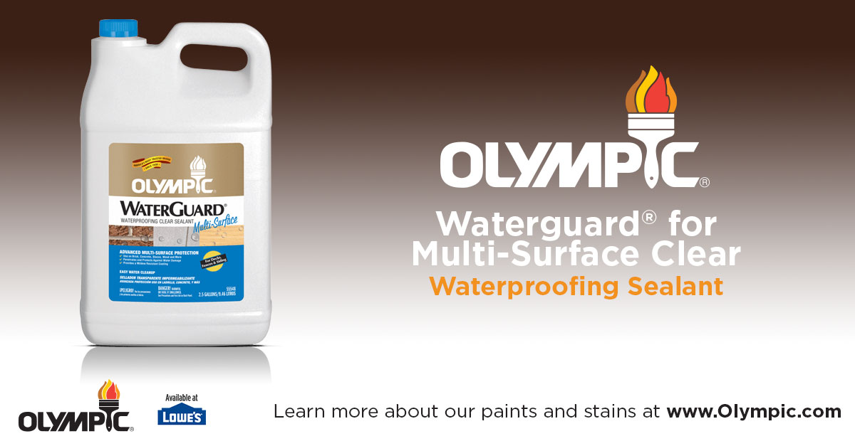 Multi Surface Waterproofing Sealant Clear Olympic Waterguard