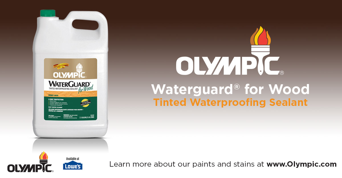 Tinted Waterproofing Sealant For Wood Toner Olympic